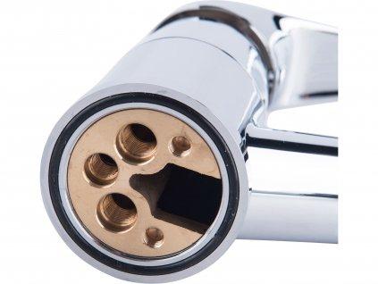 baterie dřezová teleskopická, délka hadice 130cm, 35mm, chrom