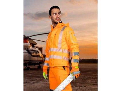 SIGNAL výstražná softshelová bunda oranžová