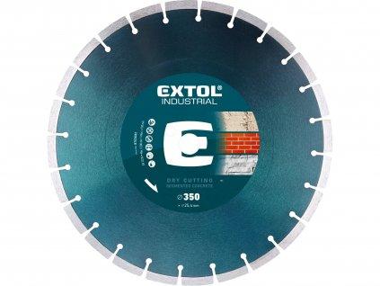 kotouč diamantový řezný segmentový na BETON, suché řezání, O 350x25,4x3,2mm