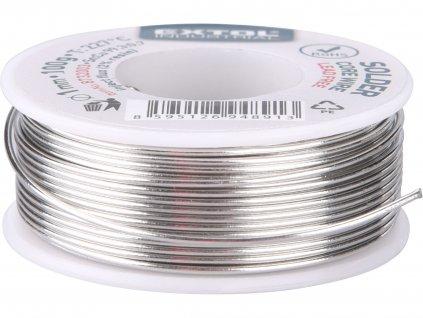 drát pájecí trubičkový Sn 99,3%/0,7%Cu, O 1mm, 100g