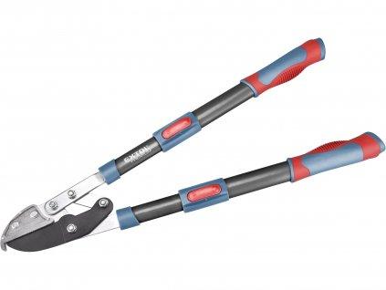 nůžky na větve teleskopické převodové kovadlinkové, 670-940mm, HCS