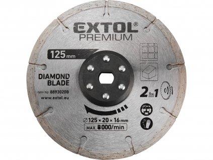 kotouč řezný, diamantový, 125x20mm