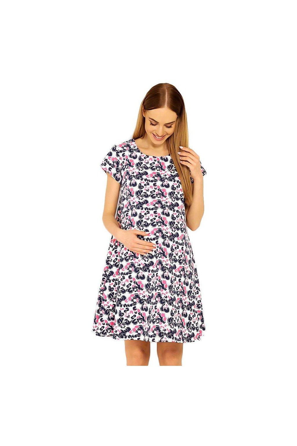 Těhotenské šaty Linde vzor květů