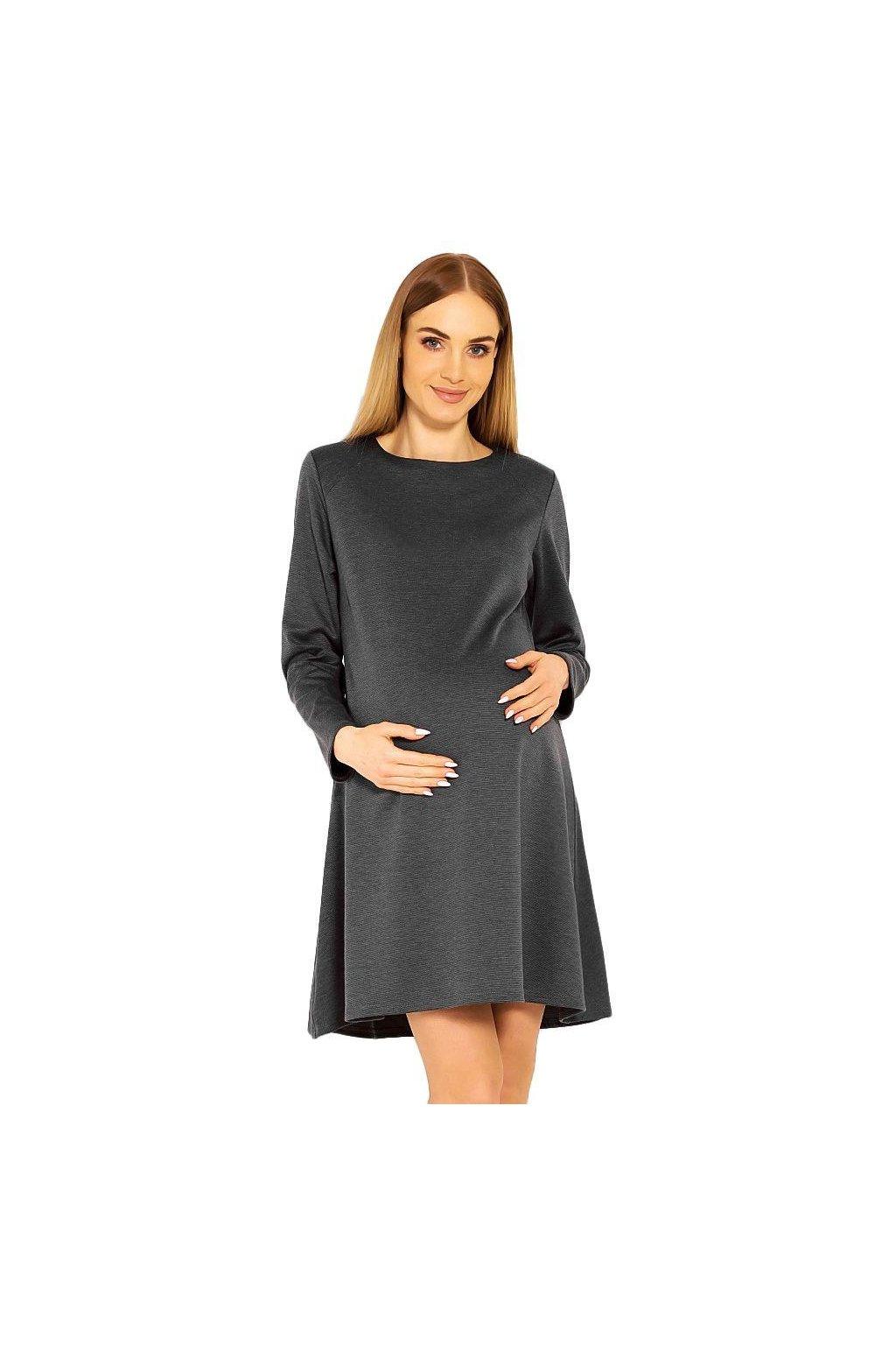 Těhotenské šaty Nathy šedé