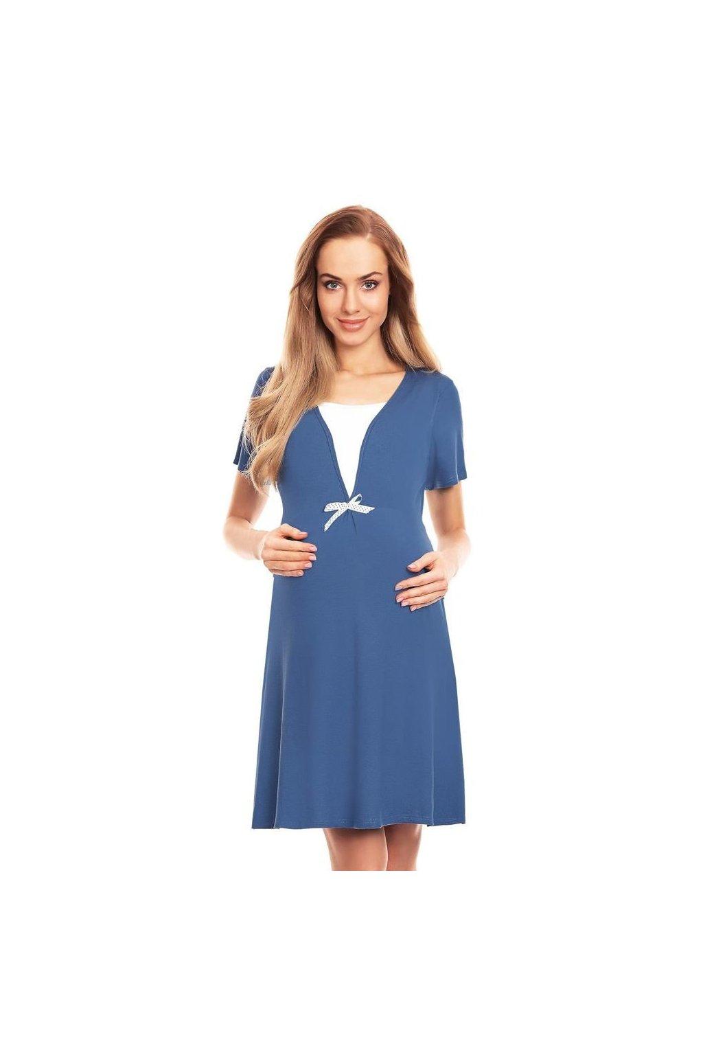 Mateřská noční košile Irena modrá
