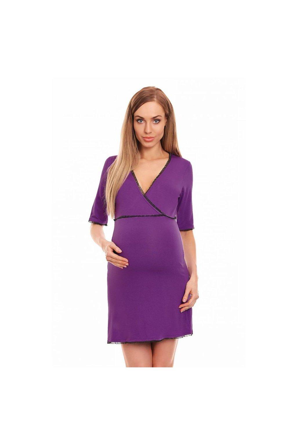 Mateřská noční košile Becky fialová