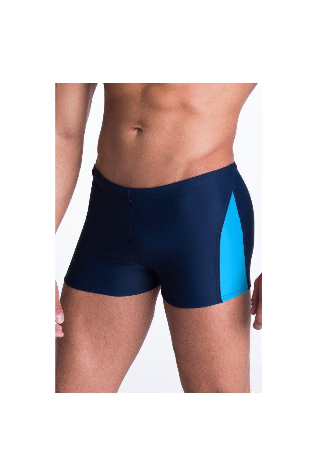 Pánské plavky boxerky David modré