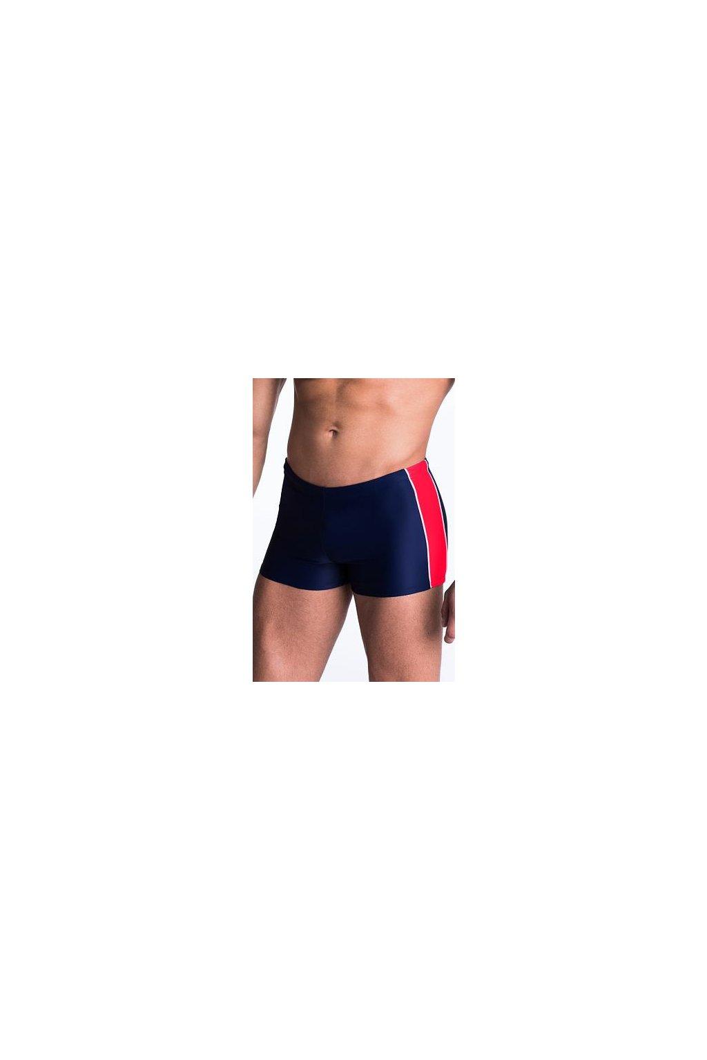 Pánské plavky boxerky Hector modročervené