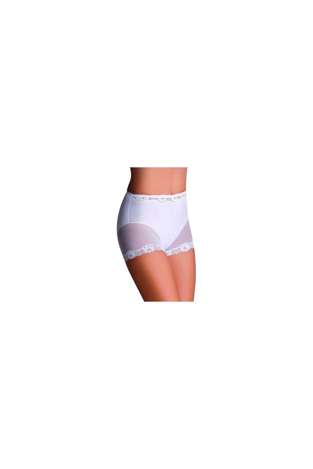 Stahovací kalhotky s nohavičkou Lara bílé