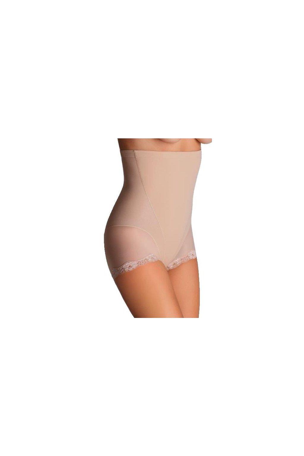 Stahovací kalhotky s krajkou Violetta béžové