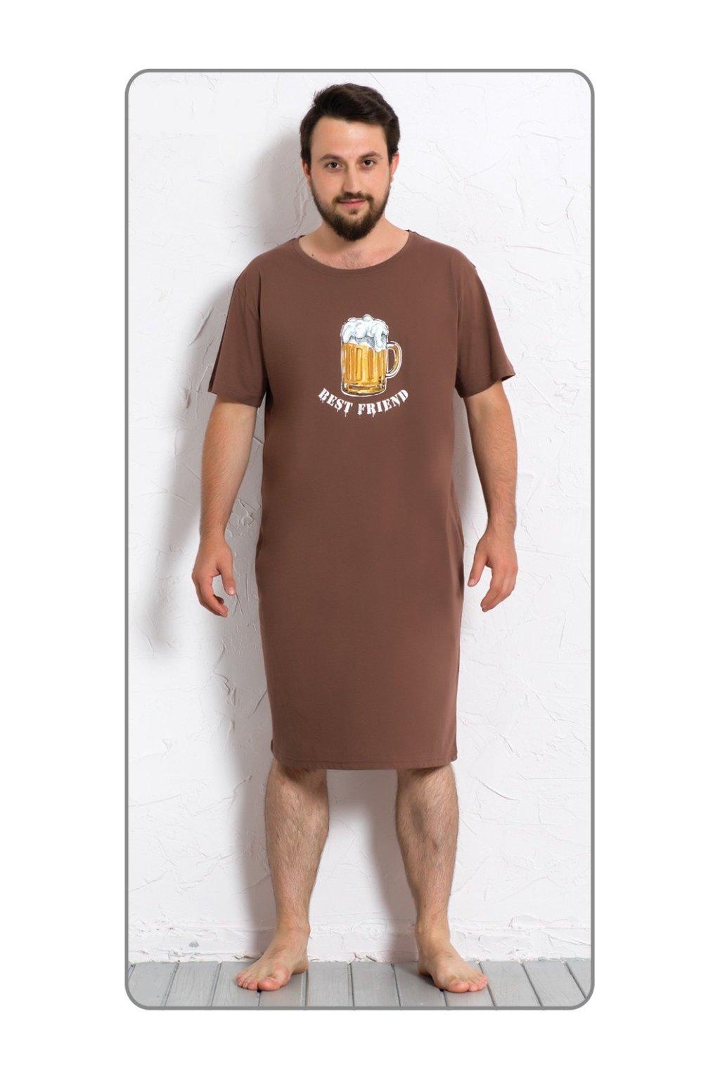 Pánská noční košile s krátkým rukávem Velké pivo