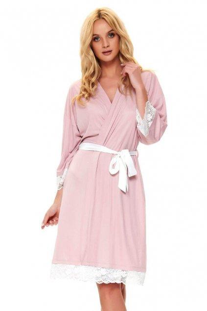 Elegantní dámský župan Mariana růžový