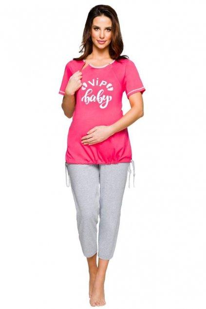 Těhotenské pyžamo Tina růžové
