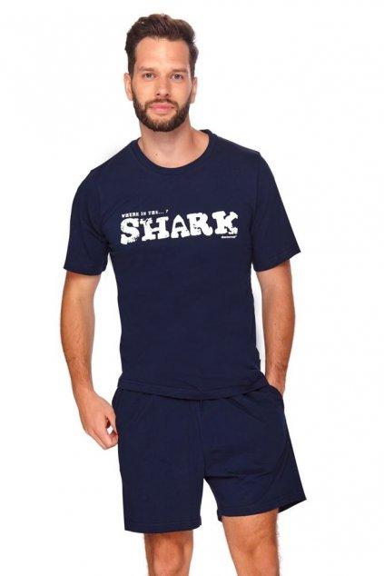 Pánské pyžamo Shark tmavě modré