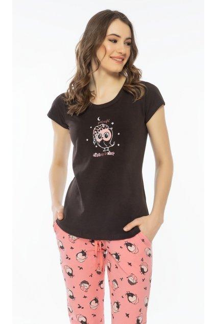 Dámské pyžamo s krátkým rukávem Good night