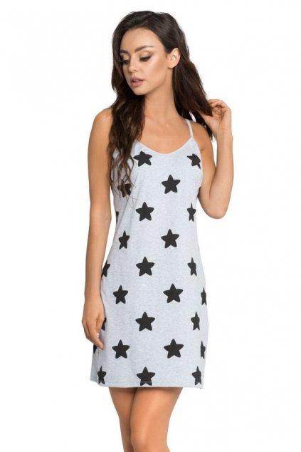 Noční košilka Astra šedá s hvězdami