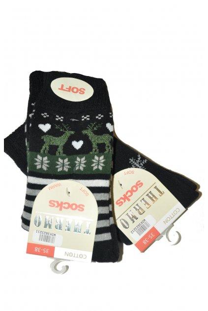 Dámské ponožky Thermo Socks Cotton 38232 - 2ks - WiK