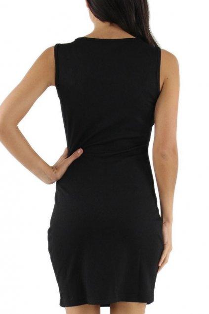 Společenské značkové šaty LUXESTAR zdobené perlami krátké černé - Černá - LUXESTAR