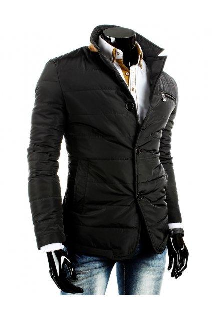 Pánská přechodová bunda na knoflíky B.H FOREVER černá - Černá / L - DSTREET