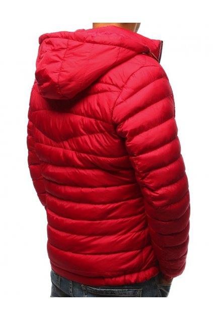 Pánská bunda s kapucí krátká červená - Červená / L - DSTREET