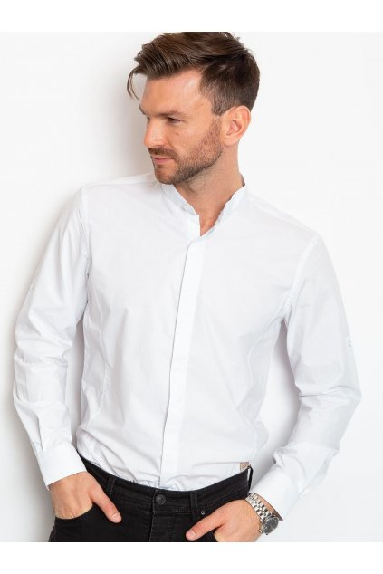 Pánská košile se stojatým límcem KS-0100 - FPrice