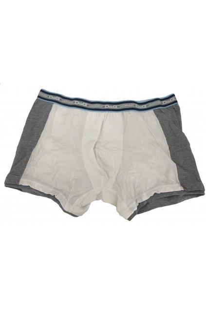 Pánské boxerky DGFBM30760 bílá, šedá - Dolce & Gabbana