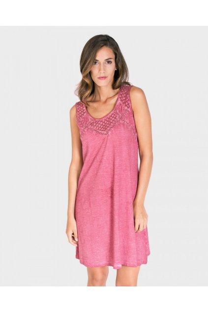 Dámské plážové šaty L197292 růžová - Massana