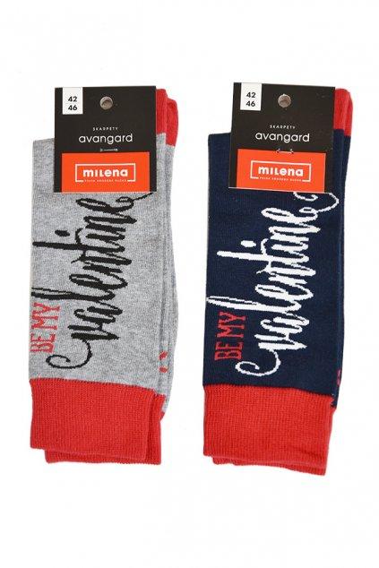 Pánské ponožky Avangard Be my valentine - Milena
