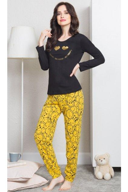 Dámské pyžamo dlouhé Úsměv - Vienetta