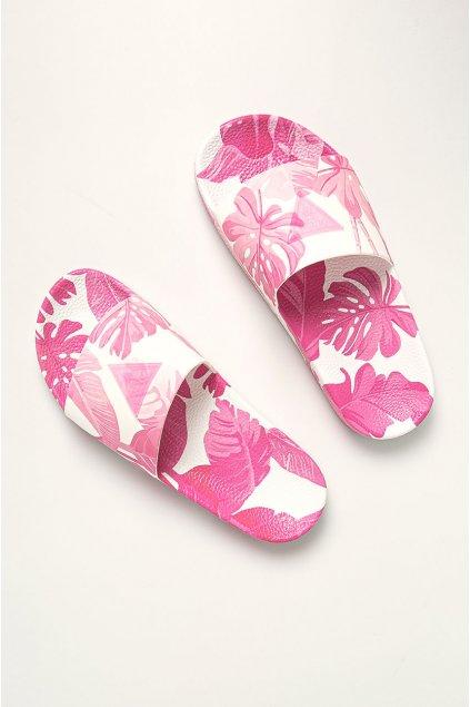 Plážové pantofle E02Z12BB00F-PU28 růžovobílá - Guess