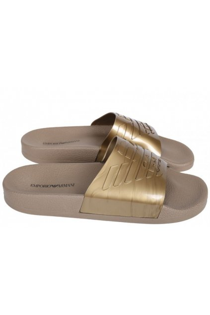 Pantofle X3PS02 zlatá - Emporio Armani