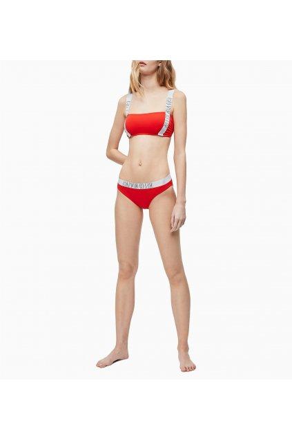 Spodní díl plavek KW0KW00819-XA7 červená - Calvin Klein