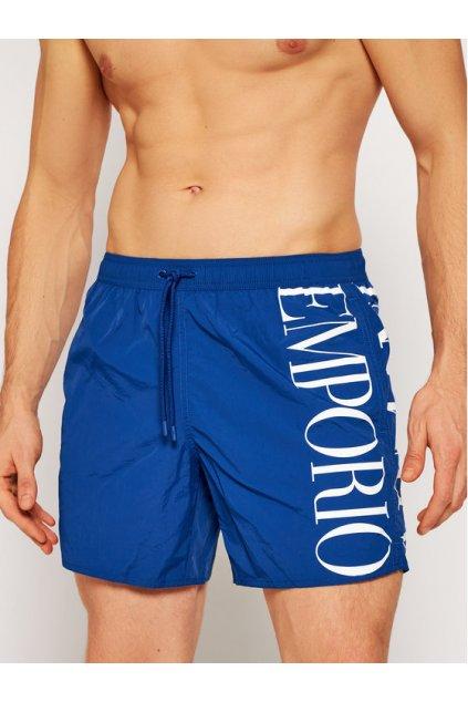 Pánské plavkové šortky 211740 1P414 23033 modrá - Emporio Armani