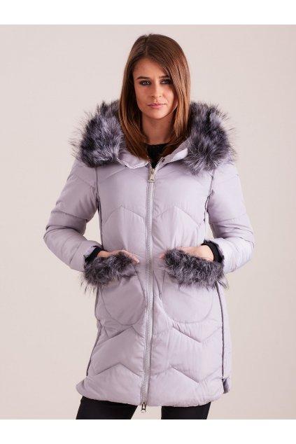 Dámská zimní bunda s kožešinou bx4197 - FPrice