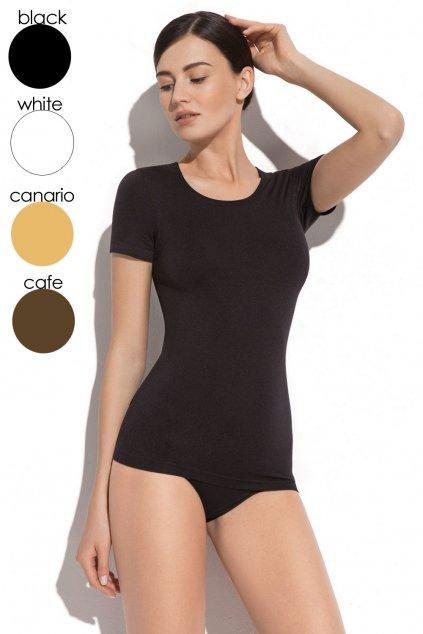 Dámské tričko 2k608 black - GATTA