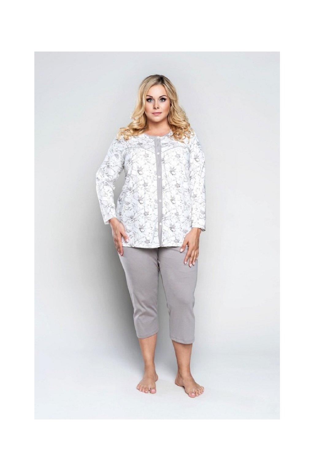 Dámské pyžamo Italian Fashion Krystyna 3/4 Bíla
