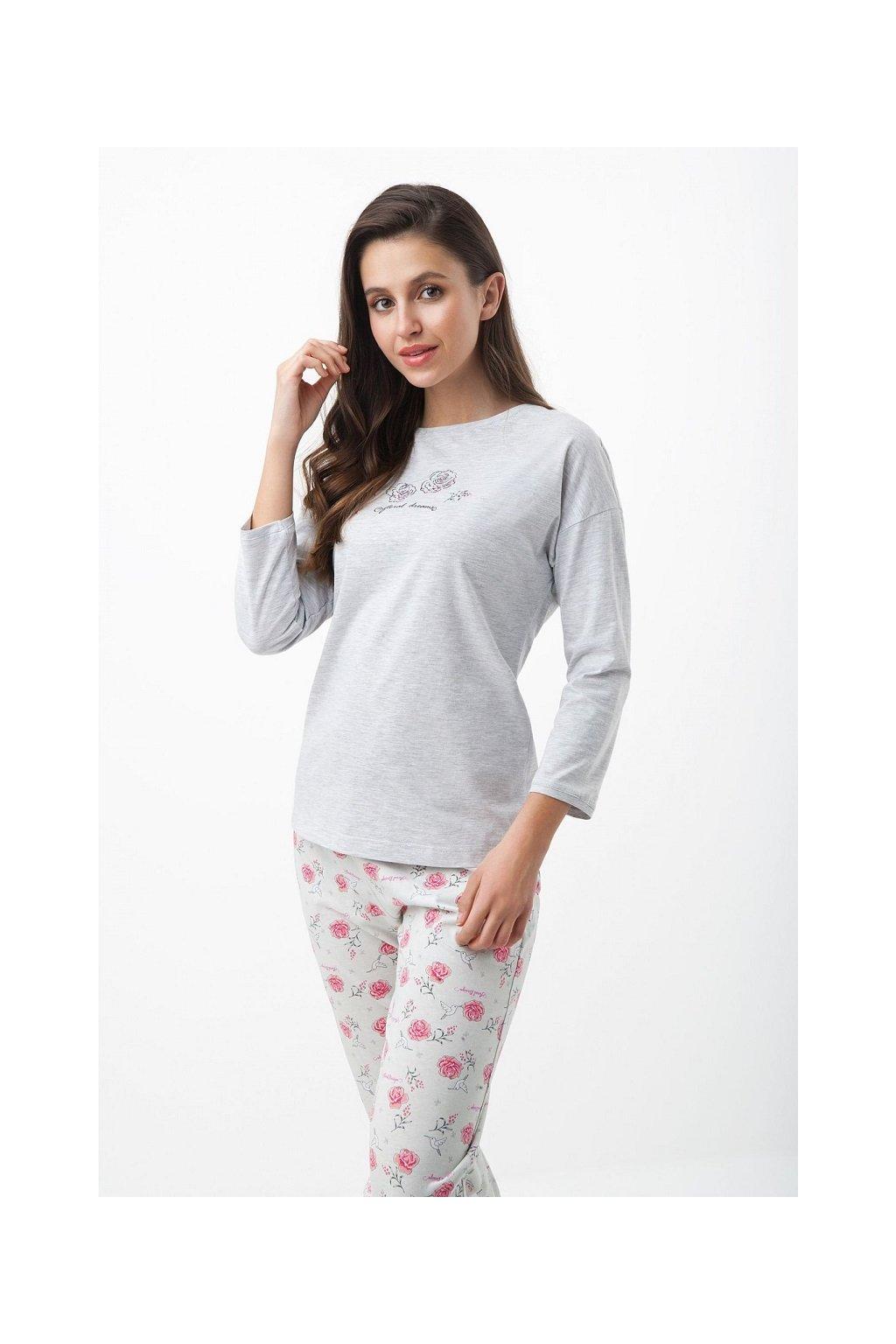 Dámské pyžamo Luna 410 šedá