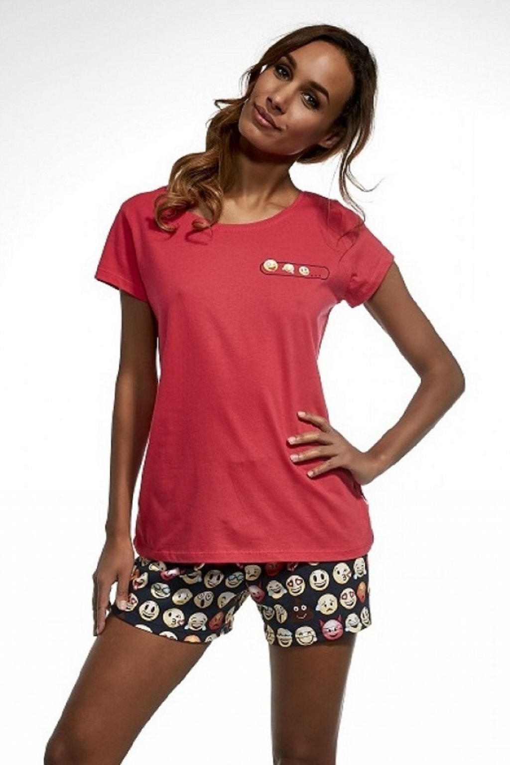 Dámské pyžamo Cornette 628/141 Emoticon