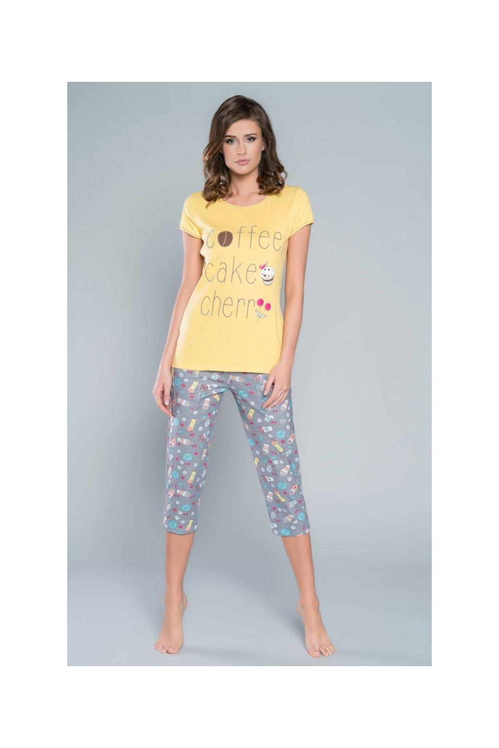 Dámské pyžamo Italian Fashion Toffi žlutá