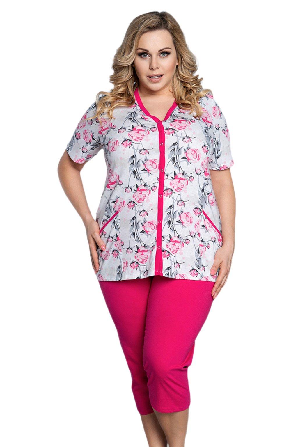 Dámské bavlněné pyžamo Italian Fashion Roza.