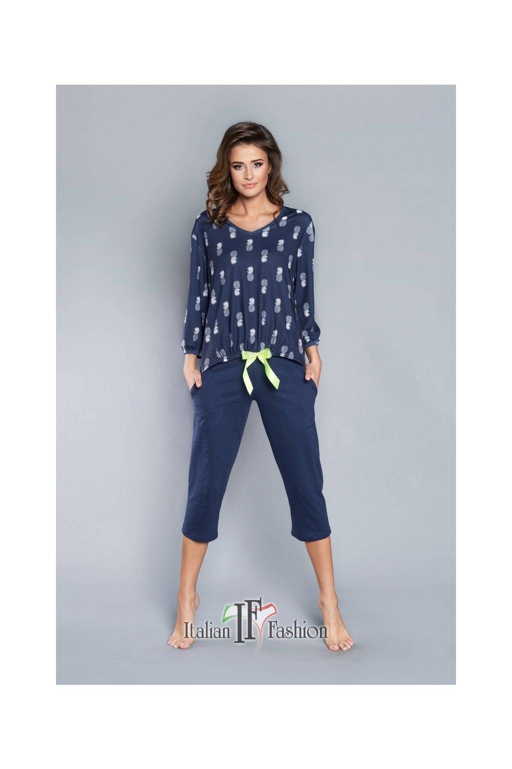 Dámské pyžamo Italian Fashion Oresta 3/4 granat