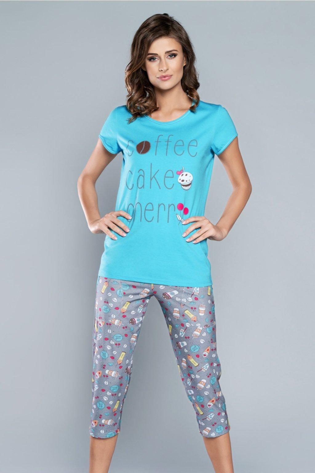 Dámské pyžamo Italian Fashion Toffi tyrkys