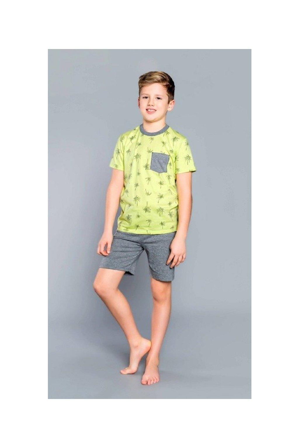 pol pl Monsun Pizama chlopieca krotki rekaw spodnie Italian Fashion limonka 45293 5