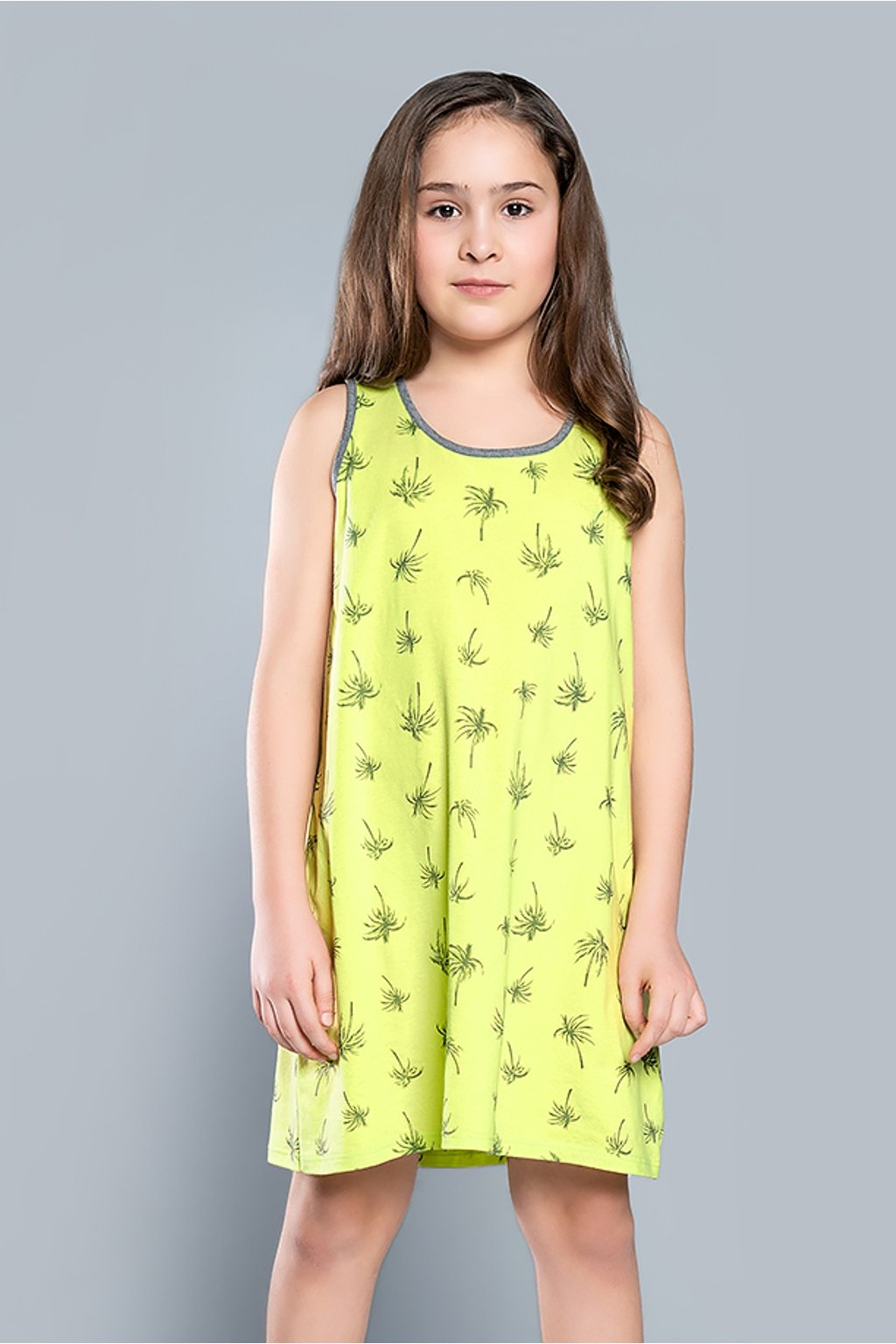 Dívčí noční košile Italian Madera limetka
