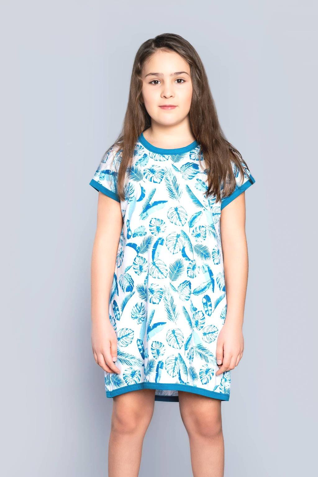 Dívčí noční košile Italian Fashion Agawa tyrkys