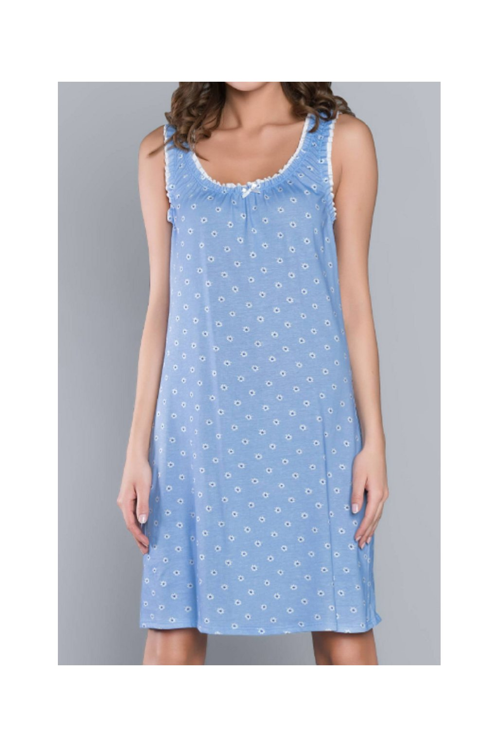 Dámská noční košile Italian Fashion Stokrotka modrá
