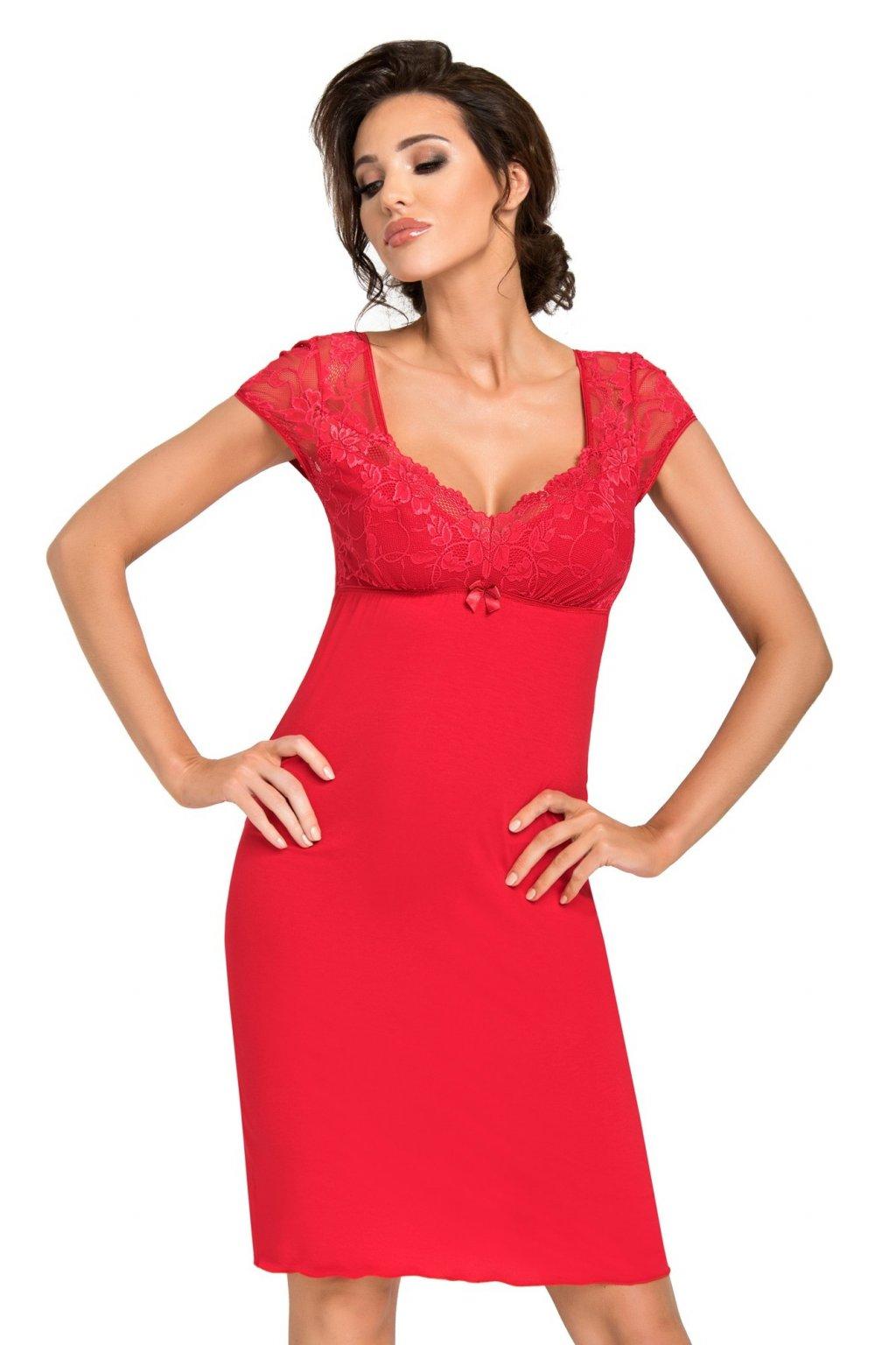 Dámská noční košile Donna Brigitte red