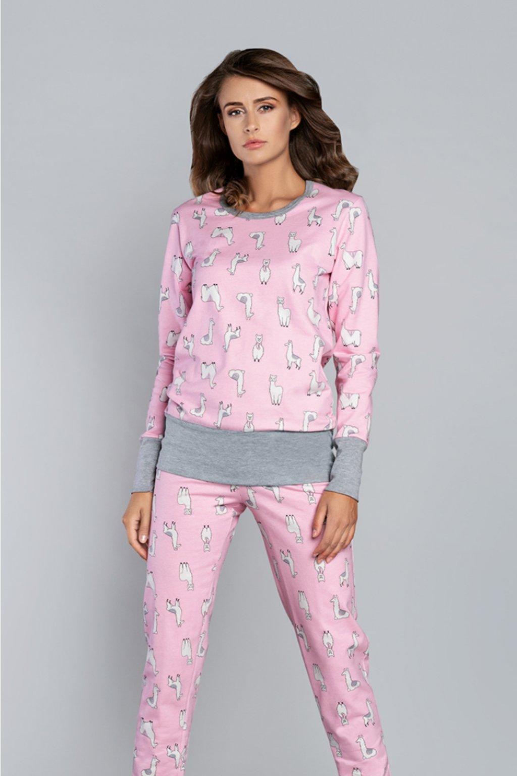 Dámské pyžamo Italian Fashion Lama růžová