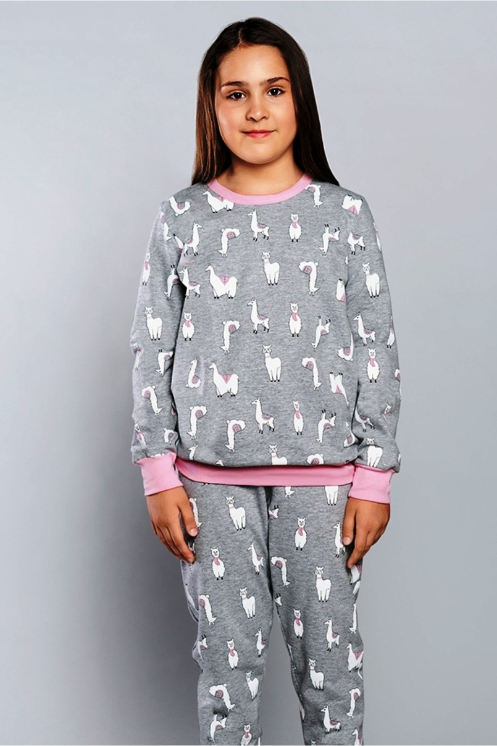 Dívčí pyžamo Italian Fashion Lama šedá