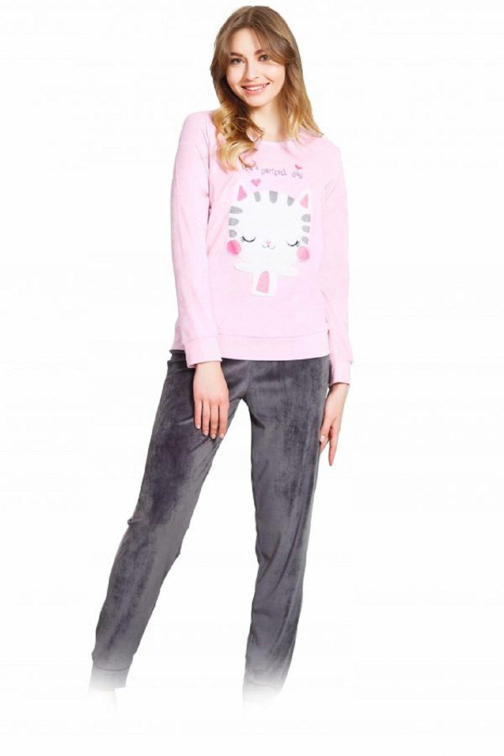 Dámské pyžamo Vienetta 804250 růžová